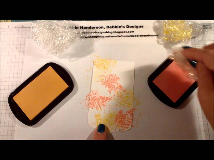 Crinkle Chalk Ink Technique & new video on my blog. Stampin' Up! Chalk Inks & Gifts of Kindness stamp set. Debbie Henderson, Debbie's Designs.