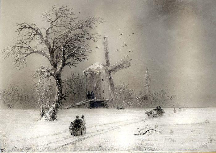 Ձմեռային բնապատկերներ... Հովհաննես Այվազովսկին նկարում էր ոչ միայն ծով։ Հայ Մեծ ծովանկարիչ Հովհաննես Այվազովսկու մասին շատերն են լսել և շատերն են դիտել նրա ապշեցնող ծովանկարները։ Սակայն շատ քչերը գիտեն, որ Հովհաննես Կոնստանտինովիչը նկարում էր նաև «ցամաքային» նկարներ։ Հազվադեպ են համարվում նրա ձմեռային բնապատկերները, որոնք ապշեցնում են առաջին իսկ վայրկյանից։ Այվազովսկու ձմեռային բնապատկերները առանձին ուշադրության են արժան։