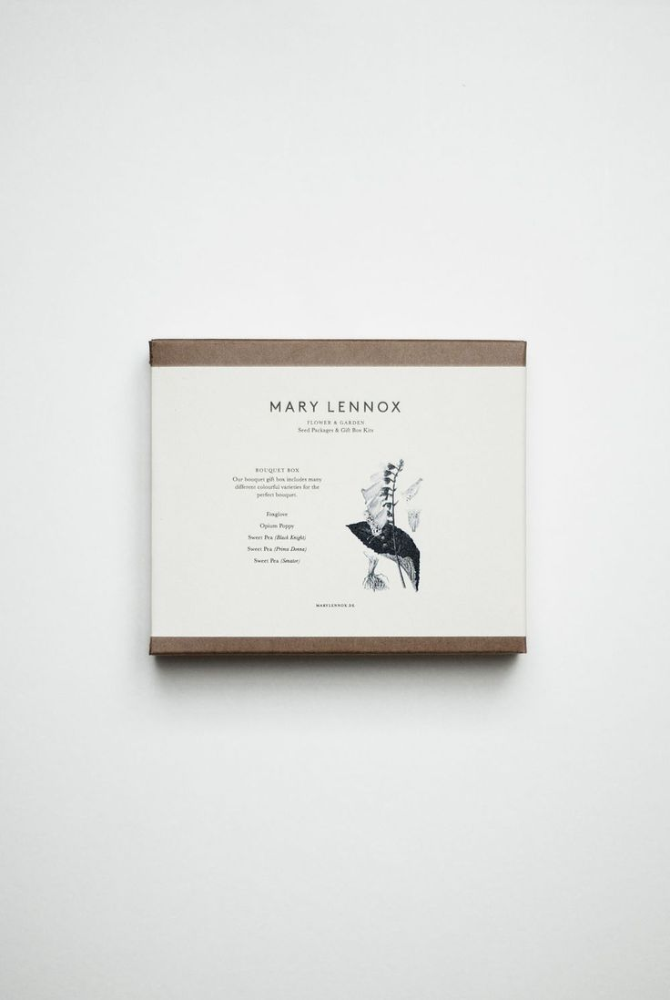 Mary Lennox Bouquet Box, available from TypeO.se