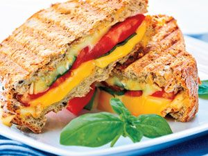 Diet Recipes - Low Fat Food Ideas - Chicken Avocado Grilled Cheese