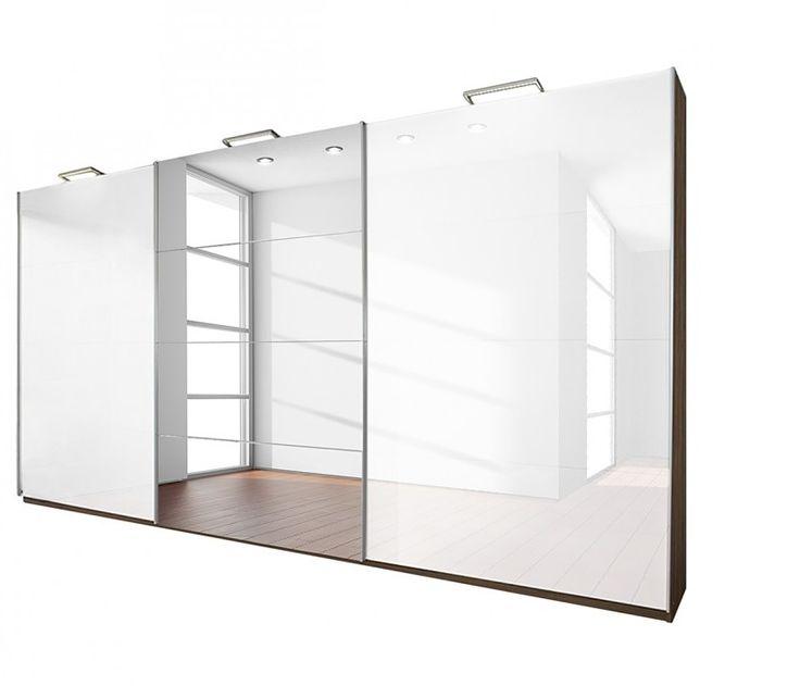 Rita 3 door White Gloss Sliding Wardrobe by simplybedrooms.com