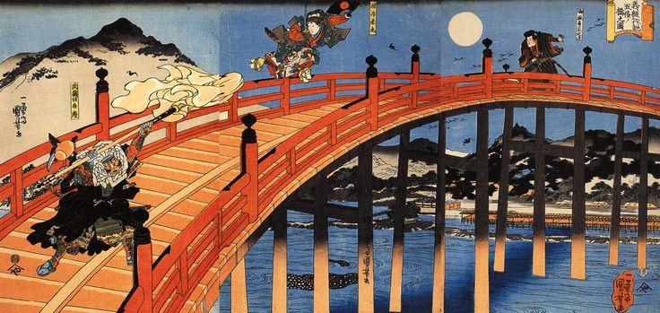 japon-estampe-bois-Utagawa-Kuniyoshi-17 - La boite verte