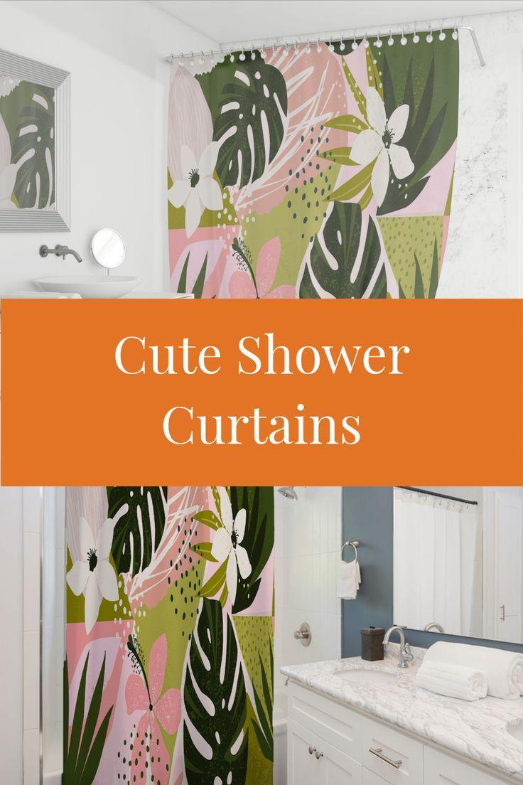 Cute Floral Shower Curtains In 2020 Cute Shower Curtains Beach