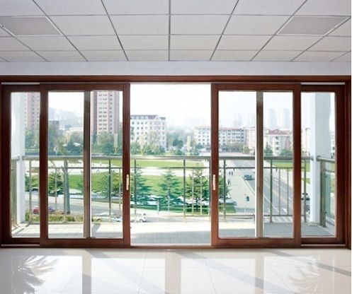 Elegant Sliding Glass Doors For Patio And Closet  Modern Double Sliding Patio Doors