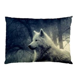 I found 'RARE White Wolf Pillow Case (Two Sides) ' on Wish, check it out!