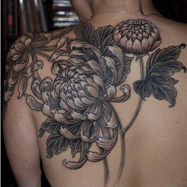 chrysanthemum tattoo - 40 Beautiful Chrysanthemum Tattoo Ideas | Art and Design