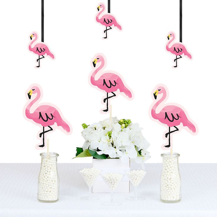 Flamingo - Party Like a Pineapple - Decorations DIY Party Essentials… Oooh, here are some really cool decorations that you can do so much with. You can hang them as a banner, or put with balloons to add the extra touch, put on a stick on the back and you can put them around in the yard. Do what ever you want to decorate for your party. www.bigdotofhappiness.come #DIYPartyEssentials