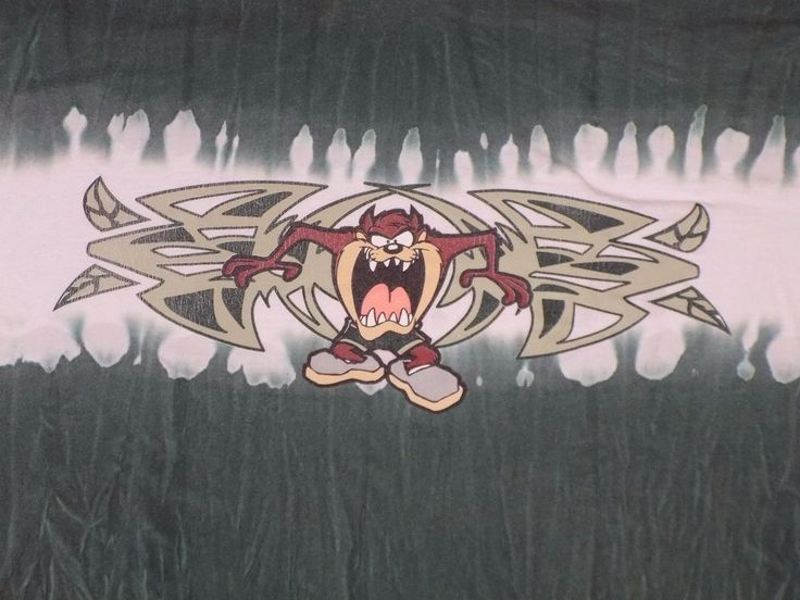 Vintage Tie Dye Tasmanian Devil 3XL Green White T Shirt Looney Tunes Warner Bros #WarnerBros #GraphicTee