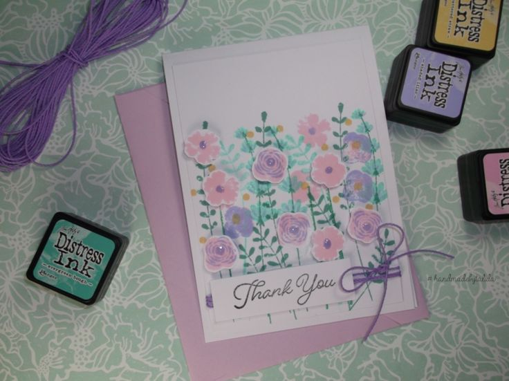 Thank You Blooms - Handmade by Talida #mftstamps