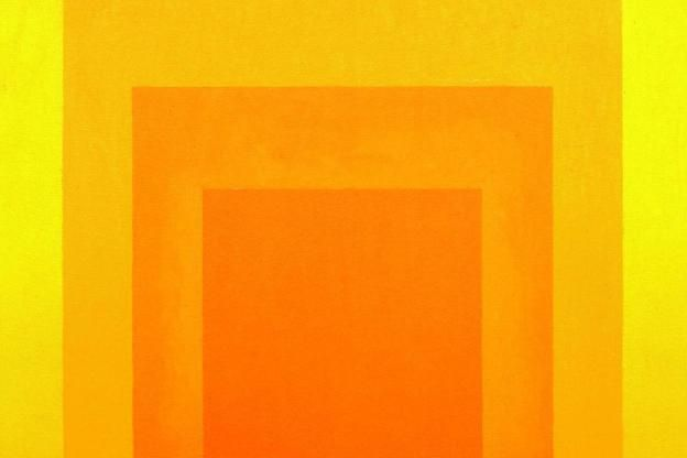 "Josef Albers' »Study for Homage to the Square« aus dem Jahr 1967. ""Ich denke Farbe"""