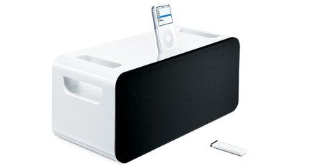 iPod Hi-Fi into the built-in Universal Dock