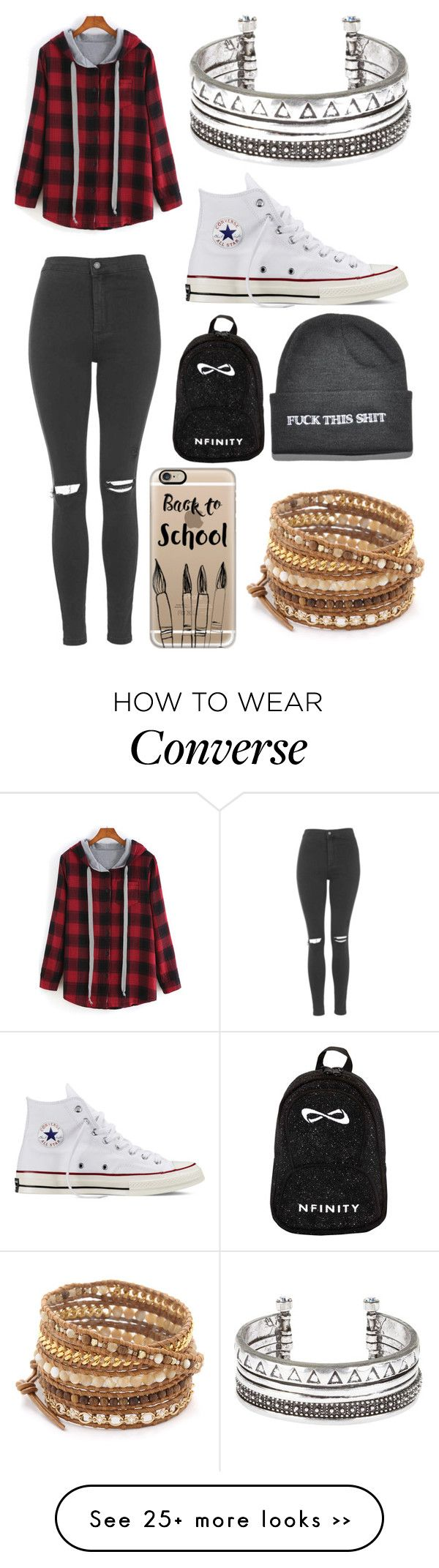 """Untitled #11579"" by aavagian on Polyvore featuring Topshop, Converse, Casetify and Chan Luu"