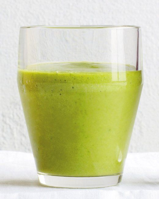Green Machine Smoothie  This green smoothie gets its color from spinach, avocado, and a Granny Smith apple. It's packed with vitamins and contains six grams of filling fiber in each serving.