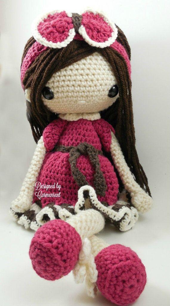 Nathalie-Amigurumi Doll Crochet Pattern PDF von CarmenRent auf Etsy