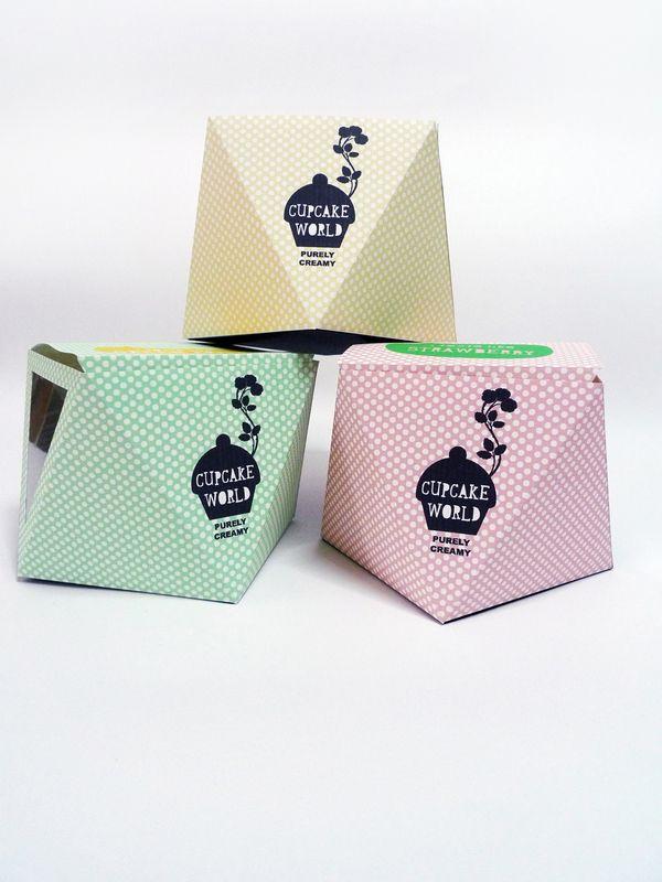 Cupcake Packaging Design by Elroy Chong, via Behance