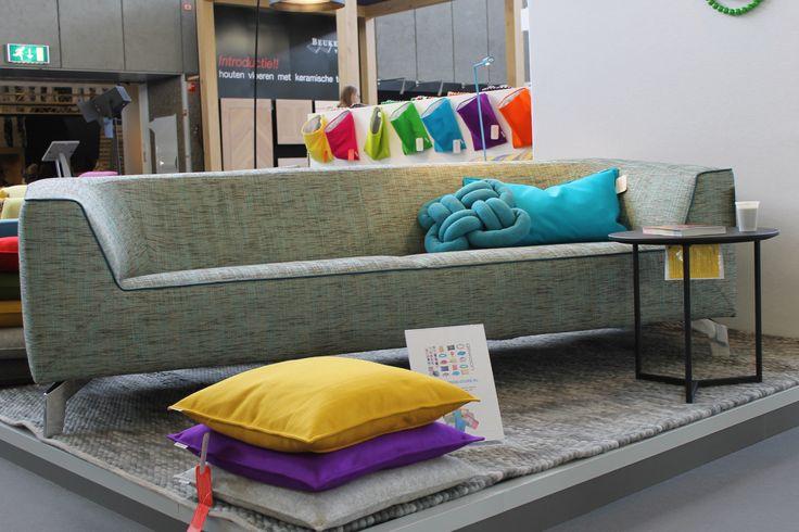 Design sofa. I like the colour combination!