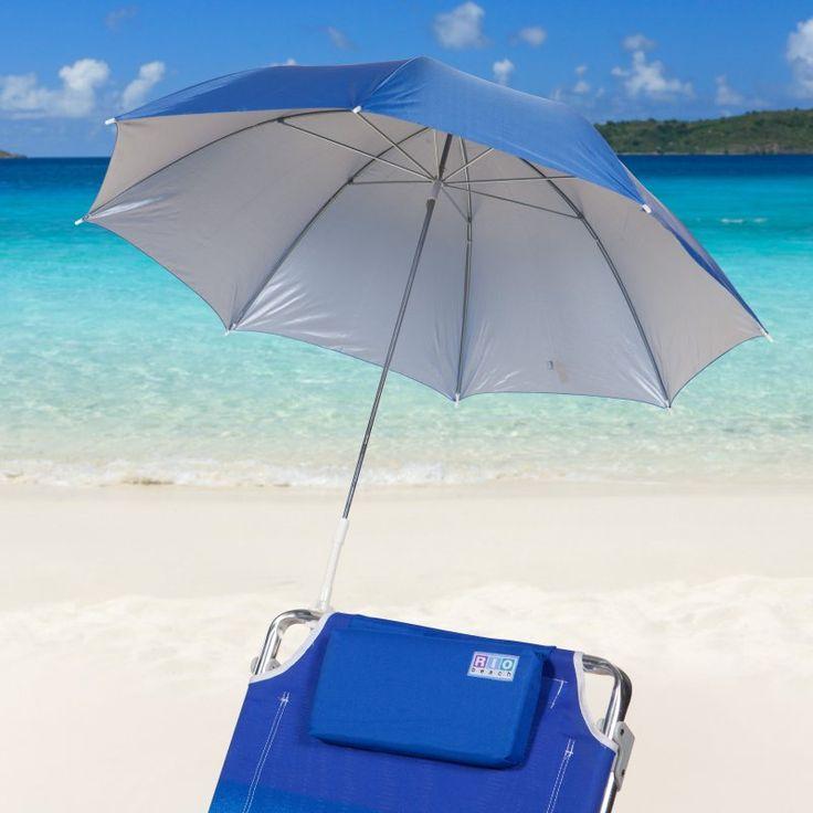Rio 4 ft. Blue Clamp-On Beach Umbrella - UB44-46