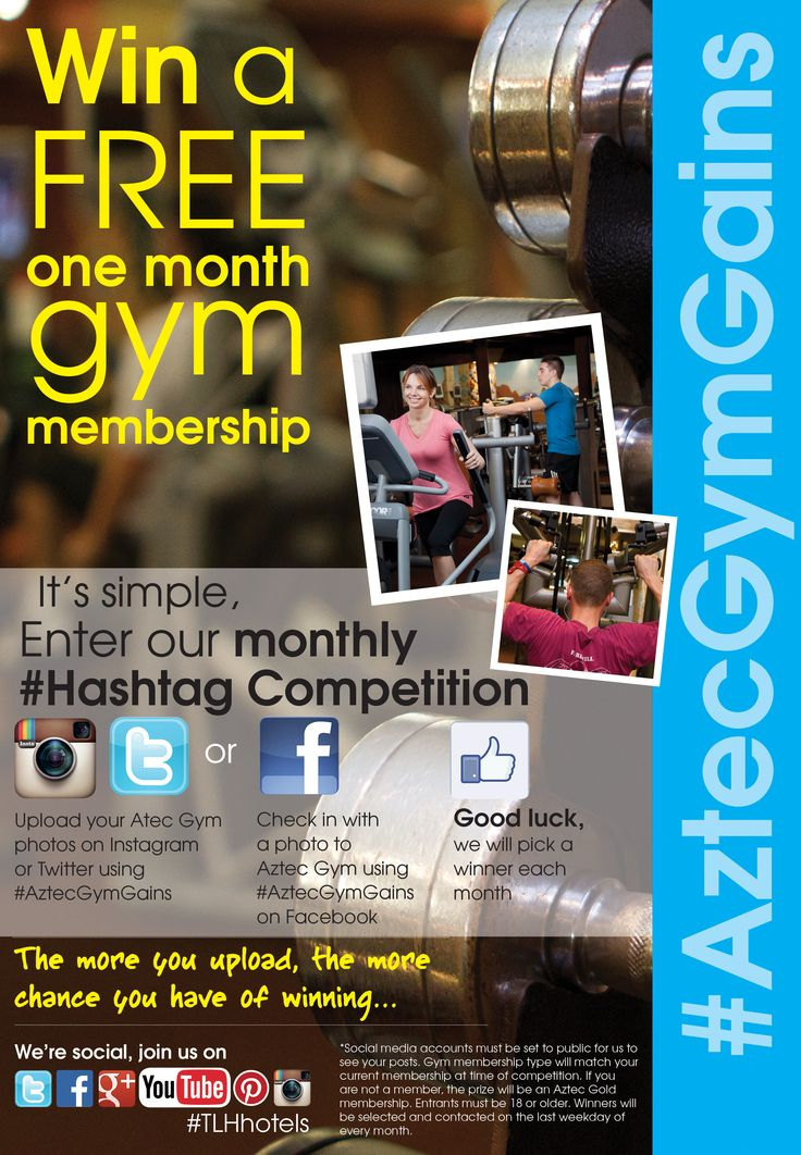 Enter our #AztecGymGains monthly competition: http://www.tlh.co.uk/blog/monthly-aztec-hashtag-competition-your-pics-win-prizes/