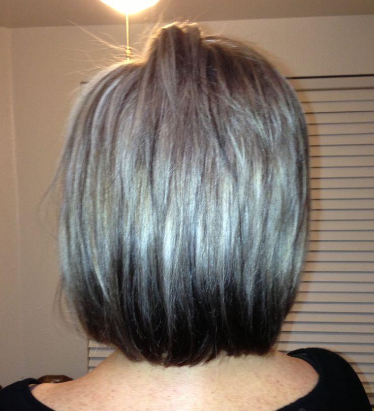 pretty gray hair clear head