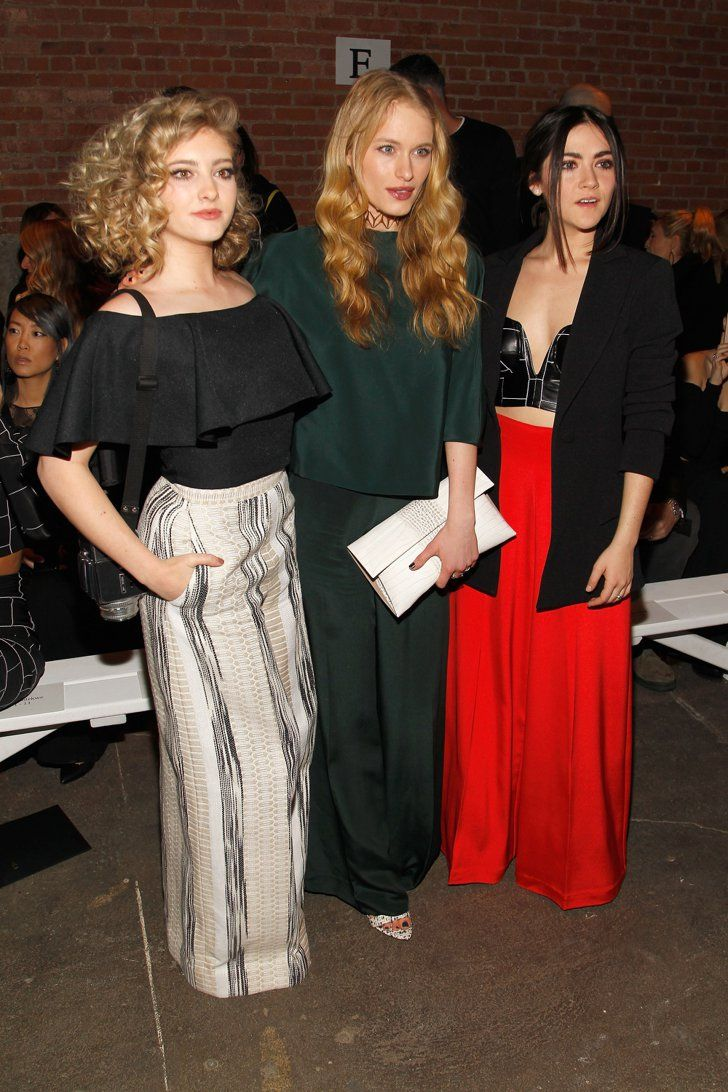 Pin for Later: These Stars Didn't Play Around When It Came to Their Fashion Week Outfits Willow Shields, Leven Rambin, and Isabelle Fuhrman At Christian Siriano.