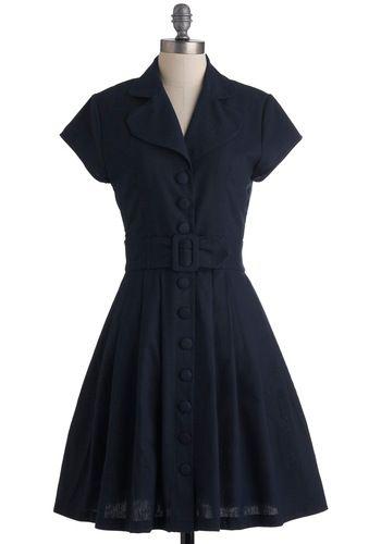 dark navy vintage-inspired dress: Dresses Modcloth, Cutest Dresses, Modcloth Vintage, Retro Vintage Dresses, Dresses 90, Classic Dresses, Shades Dresses, Vintage Inspiration Dresses, Modcloth Com