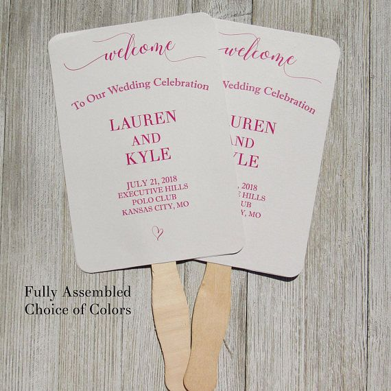 Wedding Ceremony Fans - Wedding Fans - Wedding Hand Fans - by Abbey and Izzie Designs