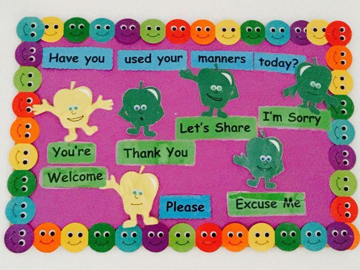 Manners Theme Preschool Google Search Bulletin Board