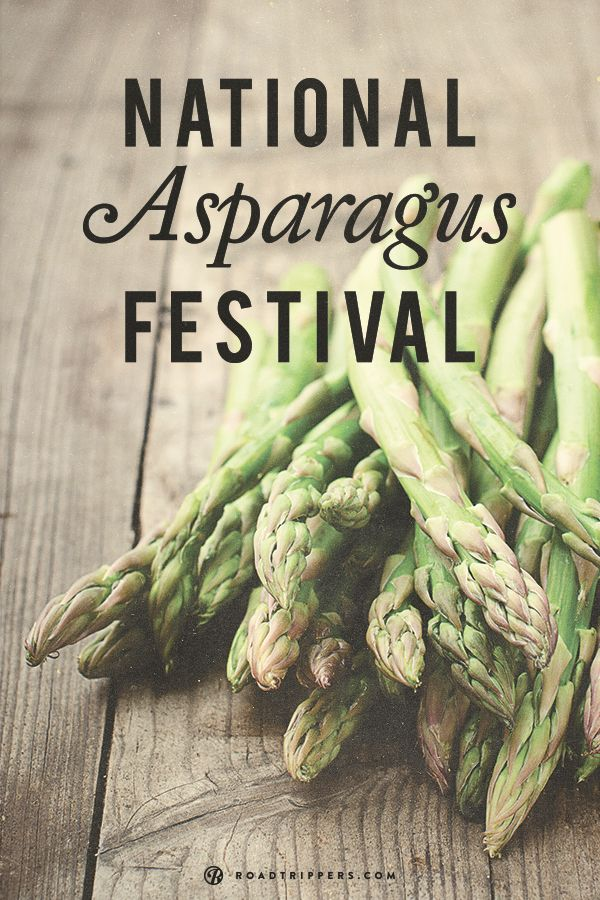 June 6 starts off the National Asparagus Festival, in Hart, Michigan