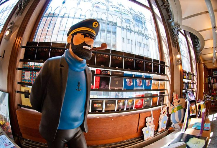 TinTin bookstore in Brussels, BE