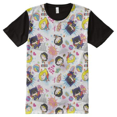 Chibi Super Heroine Pattern All-Over-Print T-Shirt - click to get yours right now!