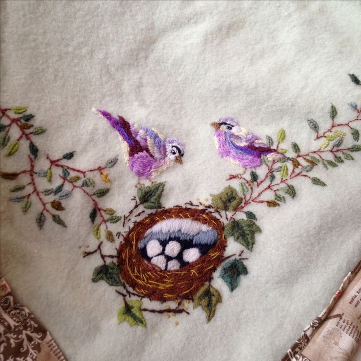 Wool embroidery blanket