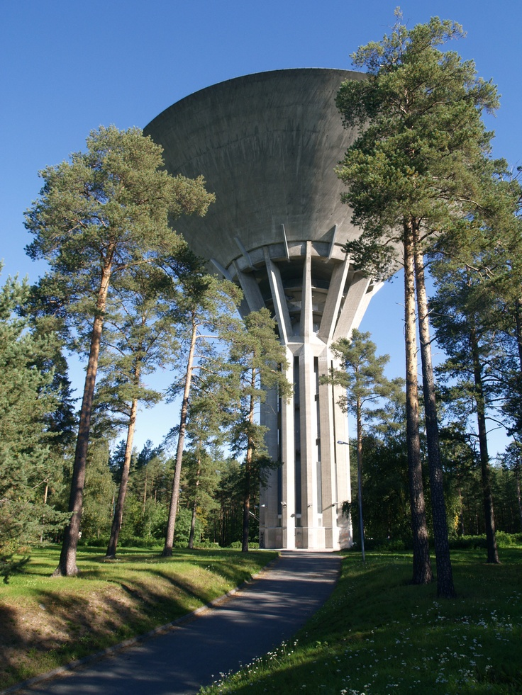 This tower reminds me of something out of Star Wars.  It's a water tower in Oulu, Finland.