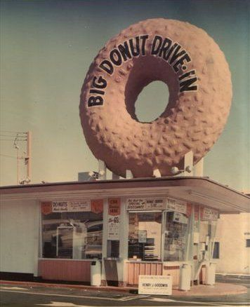 Big Donut Drive-In...now Randy's Donuts at Manchester and La Cienega in Los Angeles, California