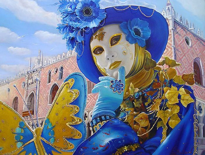 """""""Musing of Azure Mask"""" by Alex Levin."""