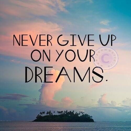 Never Giving Up Quotes: Never Give Up On Your DREAMS