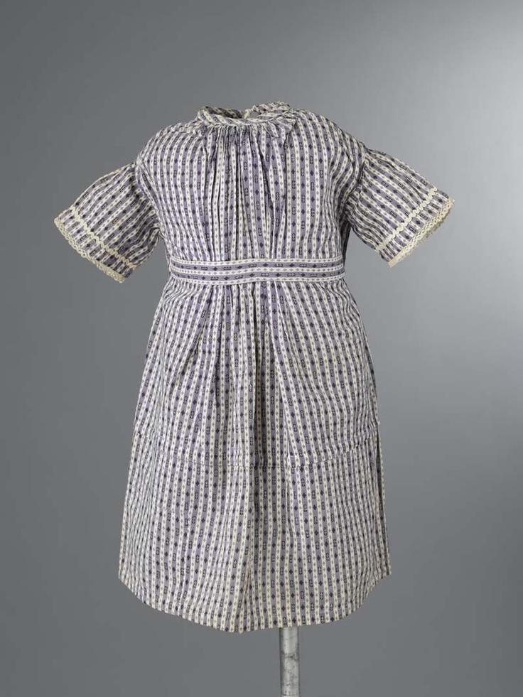 Childrens dress, 1850-1869, cotton, Fries Museum.