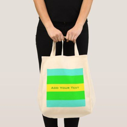 Yellow Green Blue Wide Stripes by Shirley Taylor Tote Bag - pattern sample design template diy cyo customize
