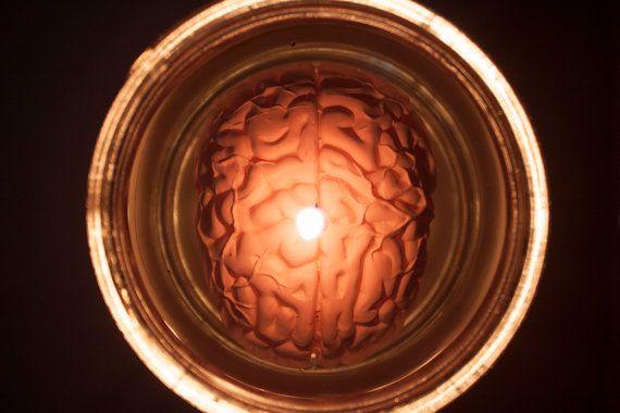 lighting brain in jar candle