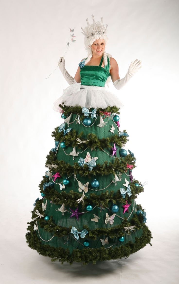Very pity adult tree costume with stilts something