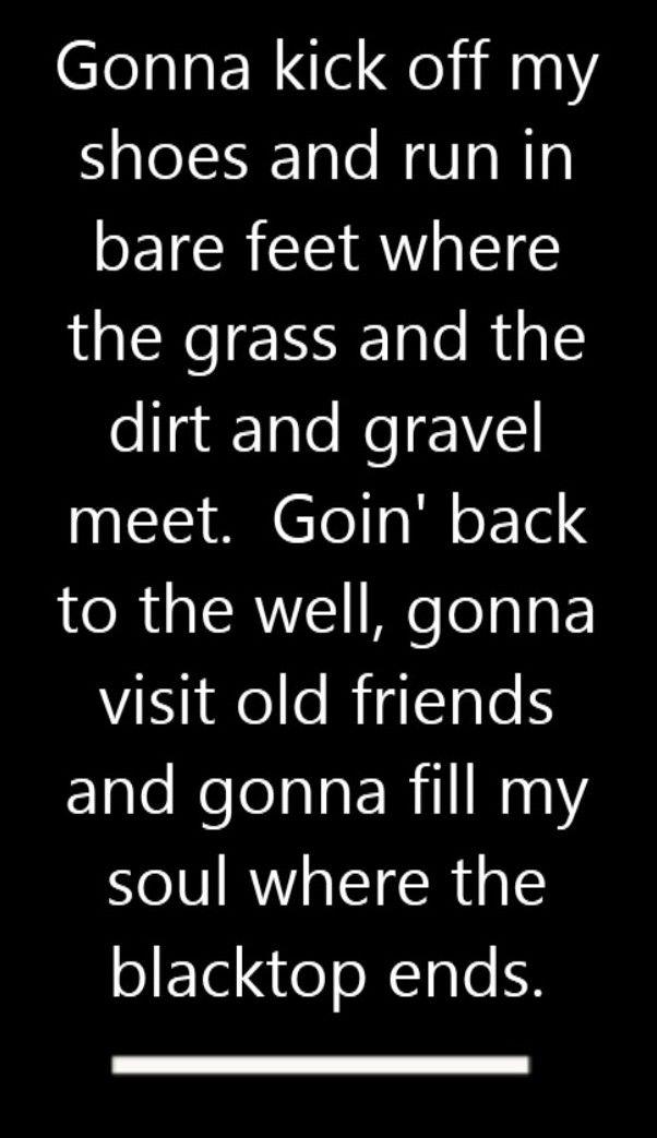 Keith Urban - Where The Blacktop Ends - song lyrics, song quotes, songs, music lyrics, music quotes,