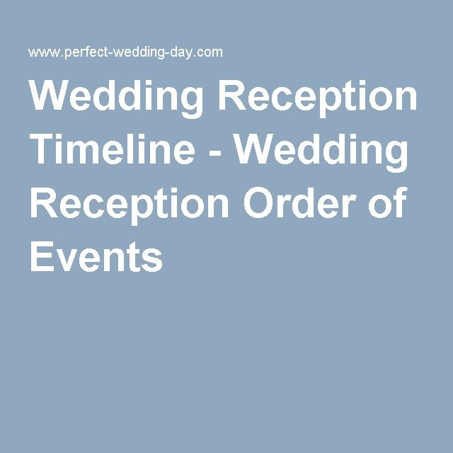 Order Of Reception Events At Wedding: Best 25+ Wedding Reception Timeline Ideas On Pinterest