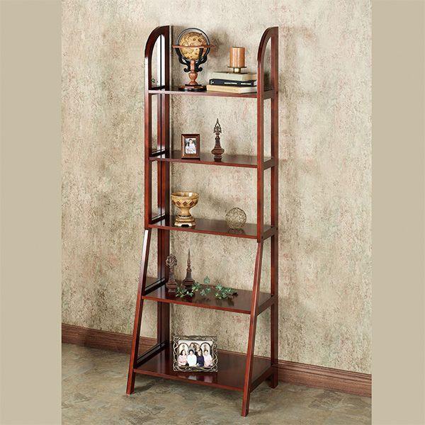Kimber Cherry Ladder And Corner Shelves Shelves Corner Shelves Shelf Design
