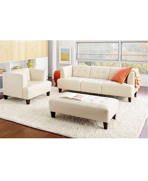 Alessia Leather Sofa Living Room Furniture Sets Pieces Macy S For Home Sectional Pinterest