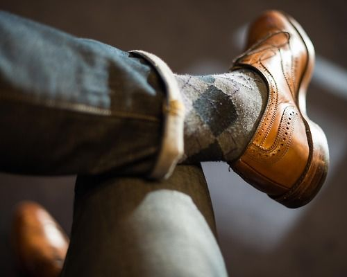 Allen Edmonds McAllister...love these cozy-looking argyle socks