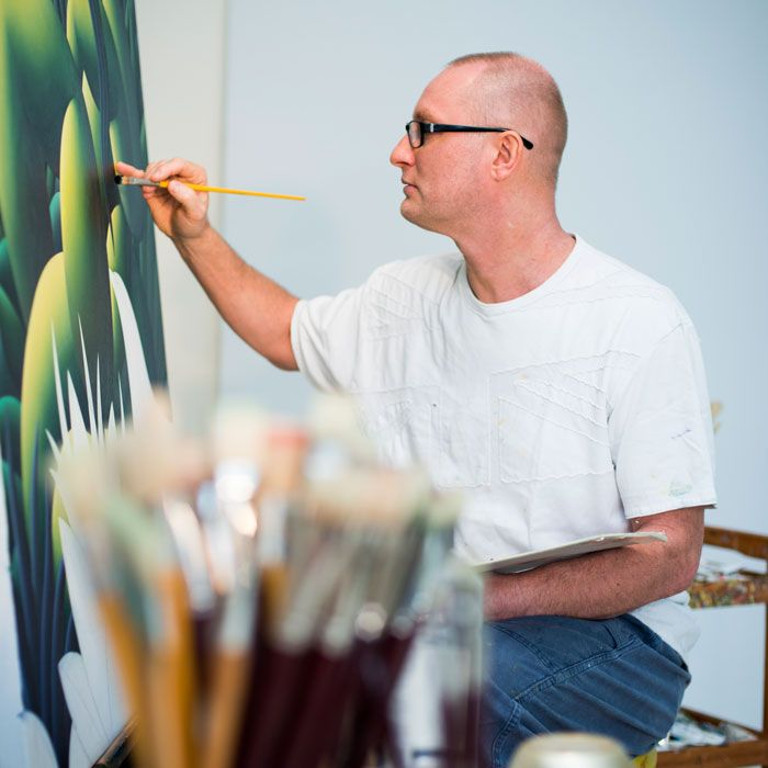 Richard Winkler likes to work freely and painting gave him that freedom.