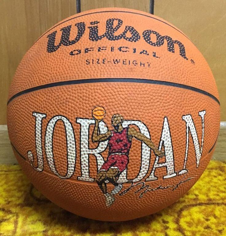 VERY RARE Vintage WILSON MVP Official Size Michael Jordan Autograph Basketball