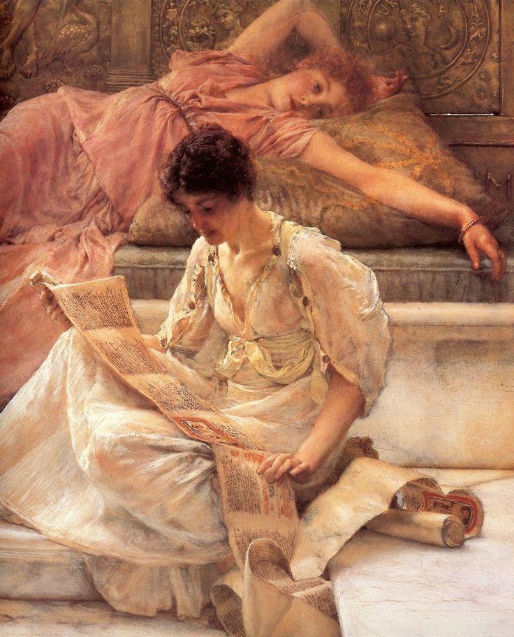 Un poeta predilecto (fragmento). Lienzo de Alma Tadema (1836-1912).70x57cm - Decorar con Arte