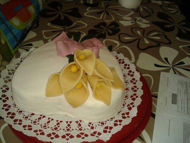 Szívecske torta Kálával