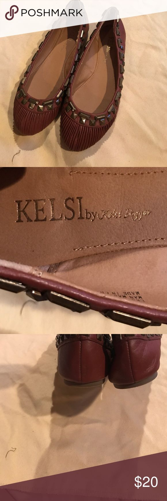 Kelsi by Kelsi Dagger Este Flats Kelsi by Kelsi Dagger Este Leather Flats with embellishments  in very good condition light wear on soles Kelsi Dagger Shoes Flats & Loafers