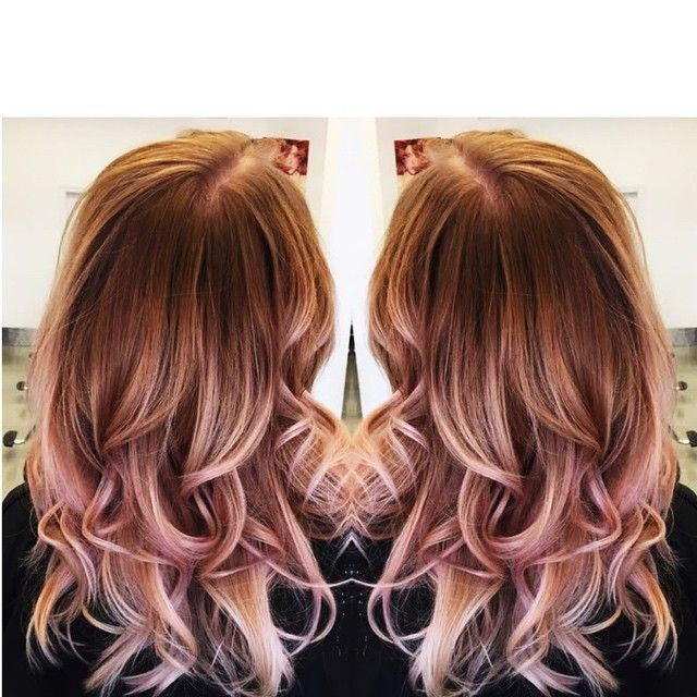 Rose Gold Hair Color Red Pinterest Rose Gold And